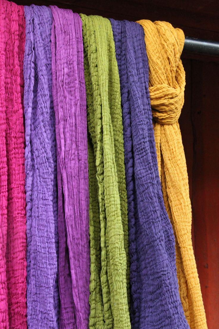 Cotton scarves by Willatar | jokiå design, Porvoo, Finland.