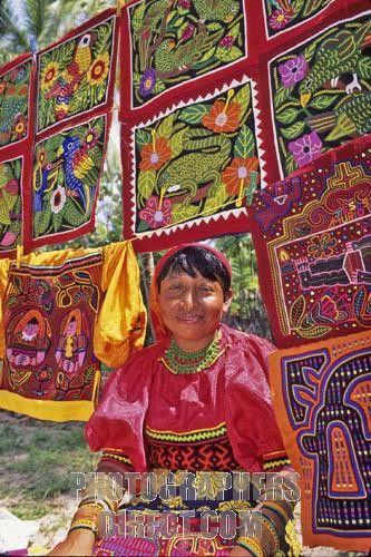 Mola's made by a traditional Kuna woman in Panama.