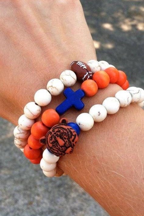 Beaded Auburn Bracelets by NikkiAlexaDesigns on Etsy, $16.00