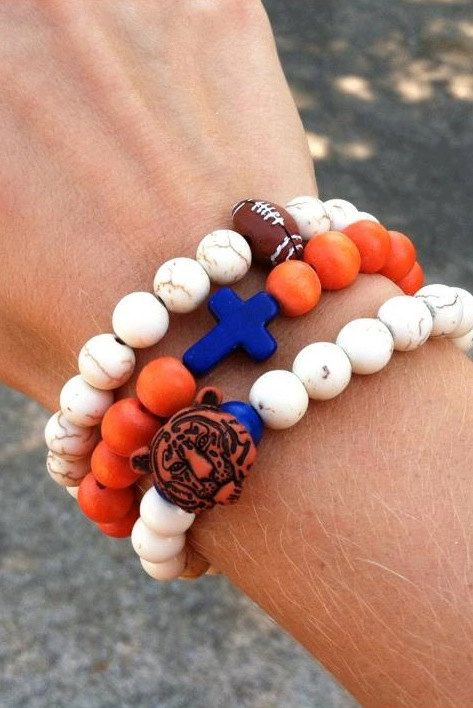 Beaded Auburn Bracelets by NikkiAlexaDesigns on Etsy, $16.00