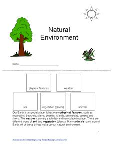 Natural Resources Lesson K-4: Help Students, Students Complete, Students Identifi
