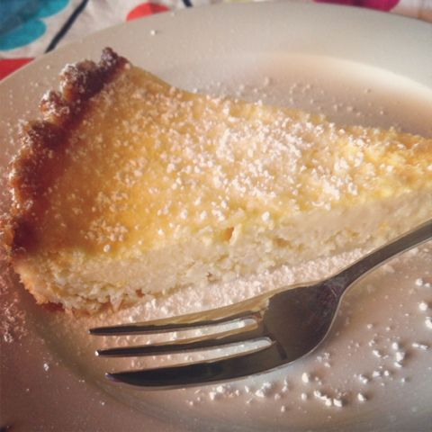 This is Taryn: Fructose Free Lemon Tart. Gluten and grain free.