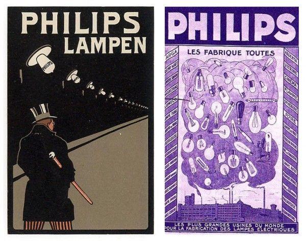 Vintage advertising for light bulbs