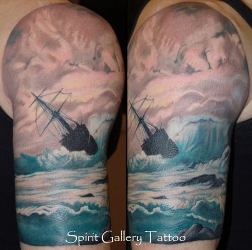 Tattoos Ocean Tattoos: Idea For My Survivor Tattoo.In The Foreground, A