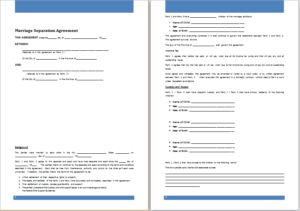 Marriage separation agreement DOWNLOAD at http://www.templateinn.com/36-agreement-templates-for-everyone/