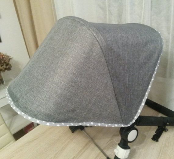 Custom canopy for Bugaboo Cameleon or Donkey, sunshade for Orbit Baby G2. The outside fabric - hydrofobic stroller polyester. The lining - hight