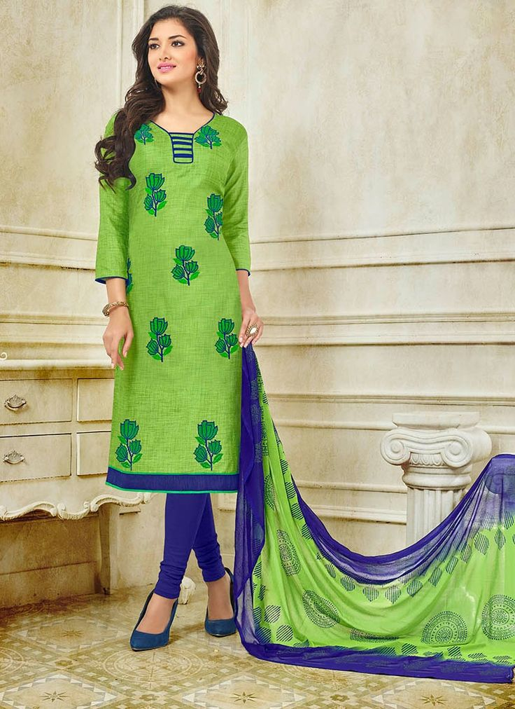 Buy Green Silk Churidar Suit, Online #churudarsuit #churidarsalwar #salwarkameez
