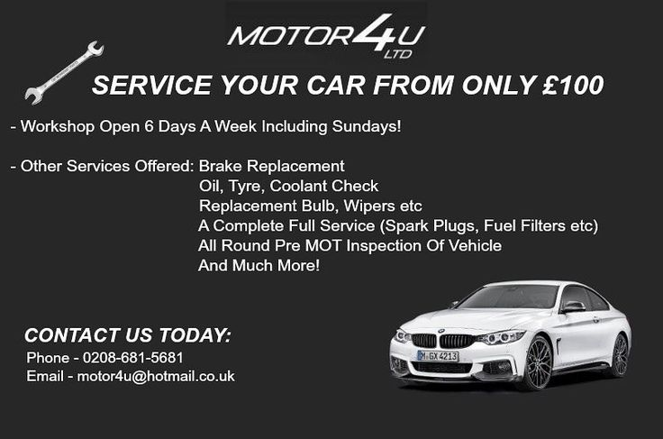 Just a small reminder of other services we offer which you may not know about! #Motor4U #Servicing #Croydon #PurleyWay #FiveWays #Mechanic #Workshop #CarSales #PresitgeCarSales #BrakeReplacement #OilService #UnbeatablePrices