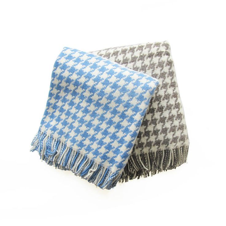 houndstooth wool throw by ville et campagne | notonthehighstreet.com