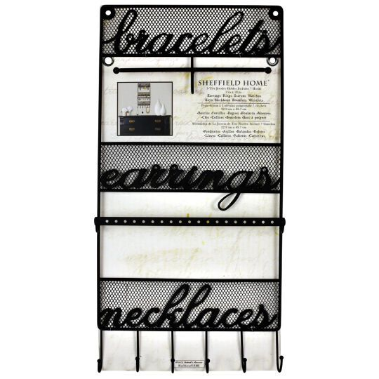 <div><div>Display some of your most treasured possessions on this lovely hanging jewelry display...
