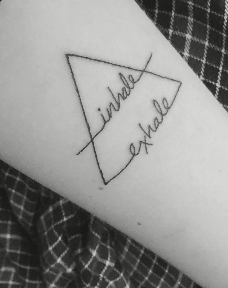 New tattoo; air symbol, inhale exhale. Don't forget to breathe                                                                                                                                                                                 More