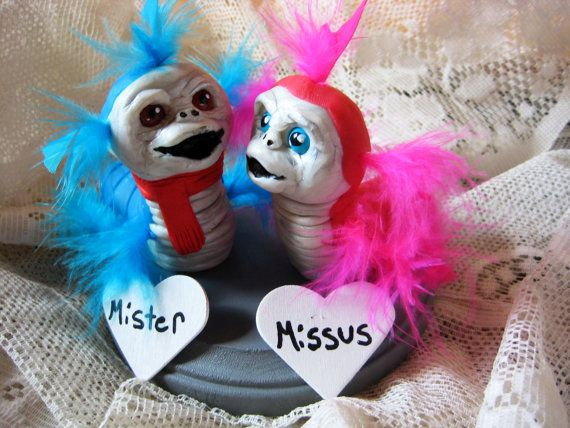 Ello Worm Cake Topper/ Mr. and Mrs./ The by AntonisArtAsylum