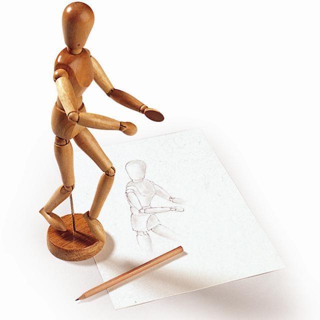 taiteilijan mallinukke, taivuteltava mallinukke, mallinukke piirtäjälle, puinen mallinukke, puinen taiteilijan mallinukke, anatominen mallinukke | Leikisti-verkkokauppa