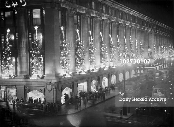 christmas lights at selfridge co ltd department store on oxford street london - Christmas Lights Store