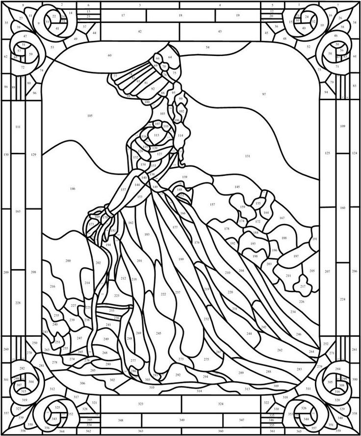 complex stained glass coloring pages - photo#32