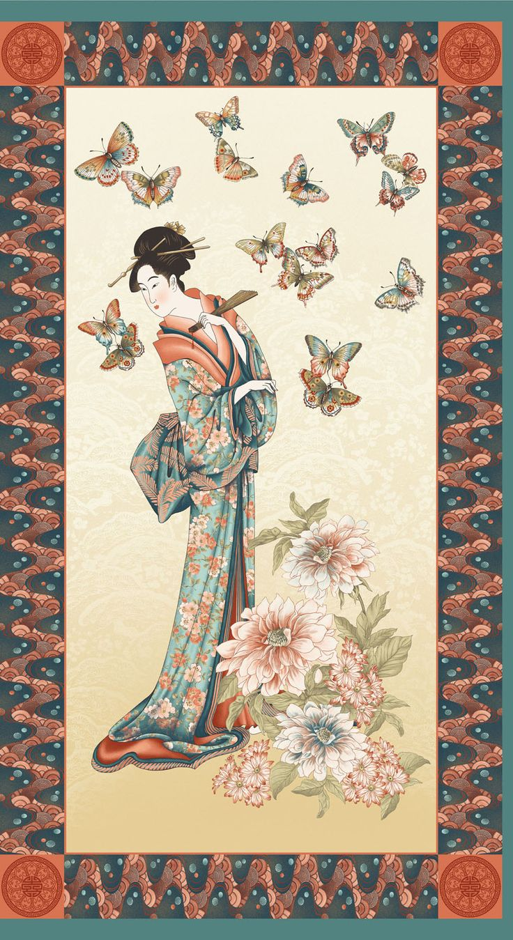 Possible speak Asian quilting fabric panels are mistaken
