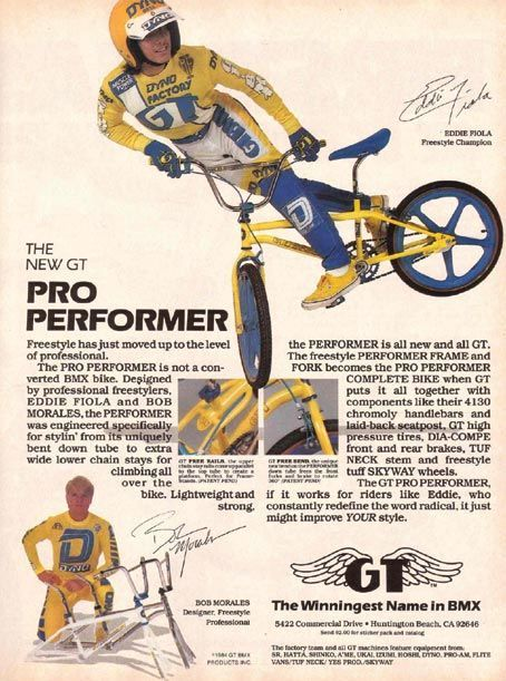 Classic GT freestyle advertisement featuring Bob Morales & Eddie Fiola!