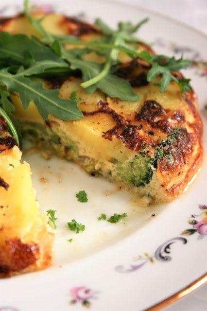 Frittata warzywna (z porem, ziemniakami i brokułem) | sio-smutki! Monika od kuchni