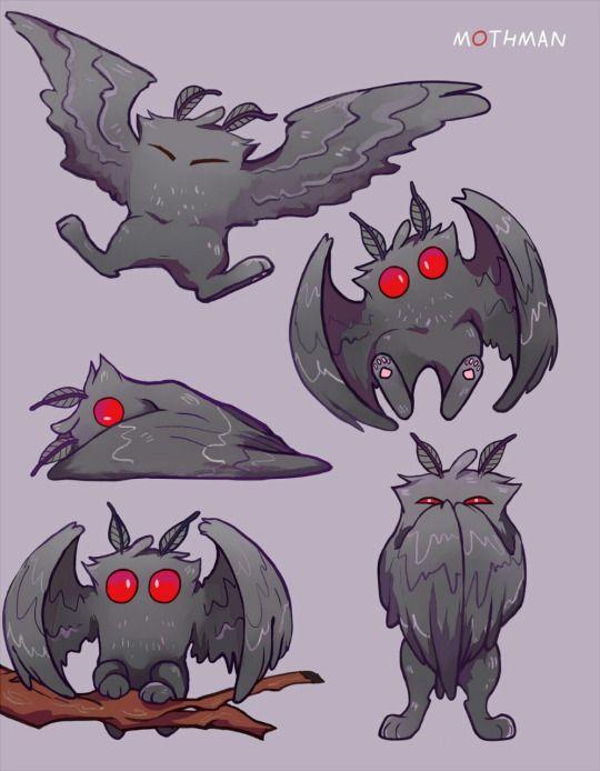 foresterrr drew the cutest Mothman ever!