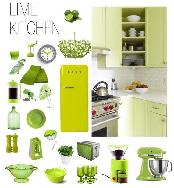 Lime Kitchen From Polyvore Lemon Kitchenkitchen Decorationslemon