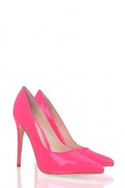 Pumps Monte Carlo | neon roze - www.littlesoho.com