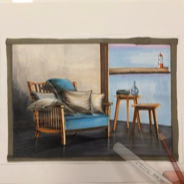 📝 #Sketch интерьера с мастер-класса в Москве.