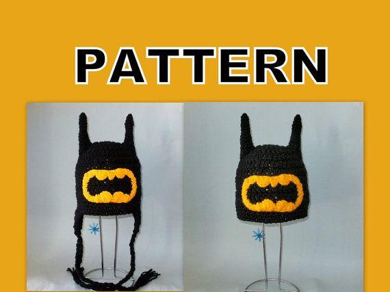 Free Crochet Pattern For Infant Batman Hat : 11 best images about Crochet - Hats - Batman on Pinterest ...