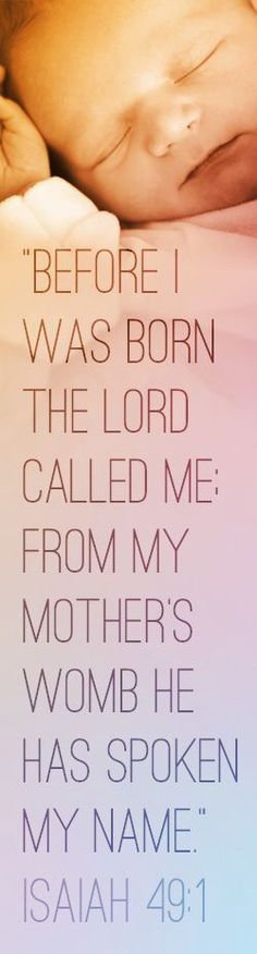 This is one of my favorite pro-life Bible verses.