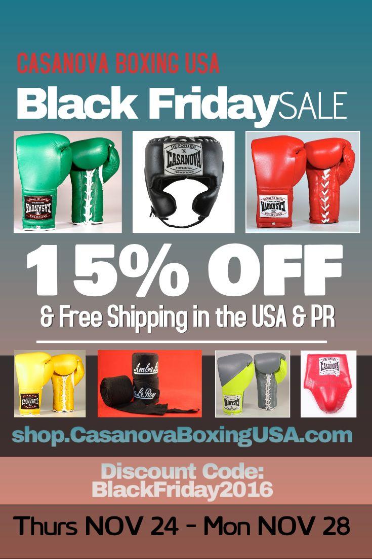"Black Friday Sale Nov 24-28, 2016 Code ""BlackFriday2016"" http://Shop.casanovaboxingusa.com    #BlackFriday #boxinggloves #boxeo #boxing  #MMA #sparring #muaythai"
