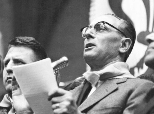 1953 - Enrico Mattei, presidente dell'Eni (Ansa)