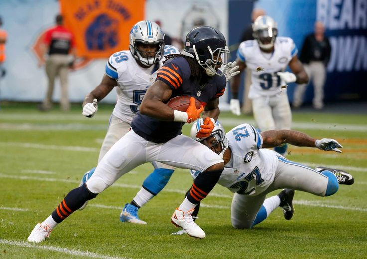Chicago Bears wide receiver Kevin White (13) runs after receiving a pass against Detroit Lions free safety Glover Quin (27) during the second half of an NFL football game, Sunday, Oct. 2, 2016, in Chicago. (Credit: AP / Charles Rex Arbogast)