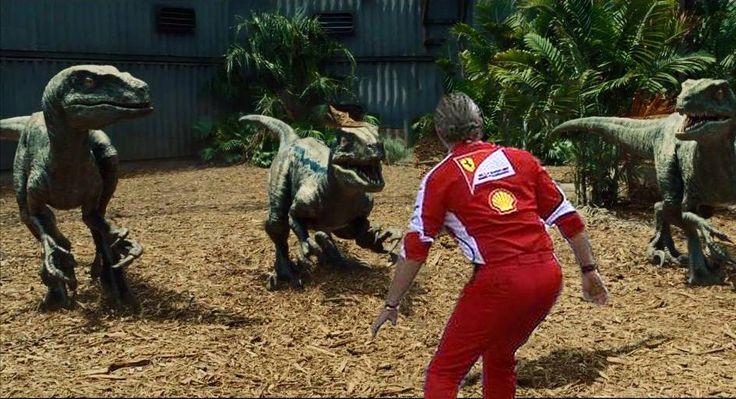 Arrivabene having a good time at Jurassic World
