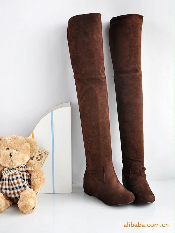 Women boots 2014 winter ladies fashion flat bottom boots shoes over the knee high leg suede long boots brand designer X11-in Boots from Shoes on Aliexpress.com | Alibaba Group