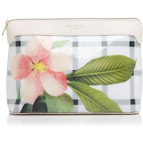 Ted Baker Secret Trellis Extra-Large Cosmetic Case ($34) ❤ liked on Polyvore featuring beauty products, beauty accessories, bags & cases, cream, wash bag, make up purse, toiletry kits, cosmetic bag and make up bag