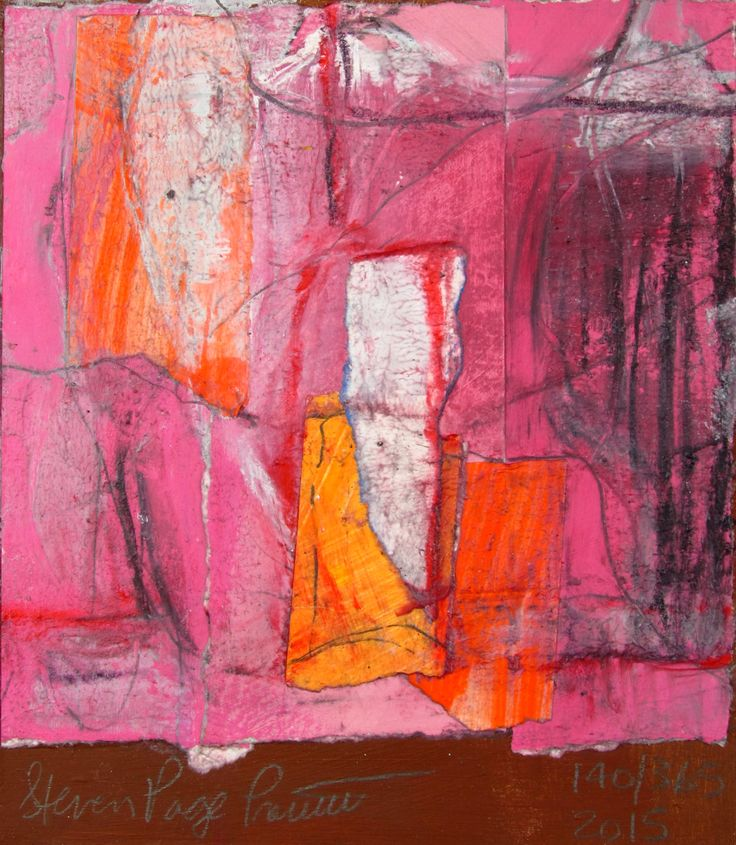 140 of 365 in 2015. acrylic,water color, gesso, pencil, charcoal, paper collage on masonite