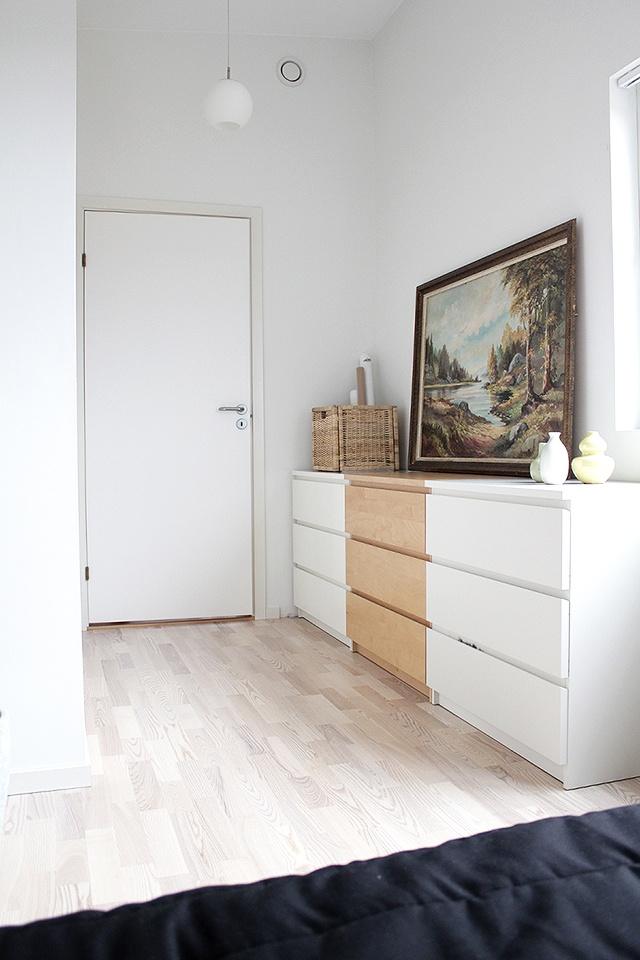 great idea - multicolor Ikea Malm cabinets