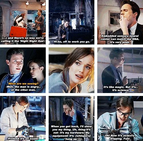 Agents of Shield moments... omg Fitzsimmons is halarious<<<< THESE GIFS ARE PERFECT THE ONE WHETE LEO WINKS AT GEMMA AGHHH