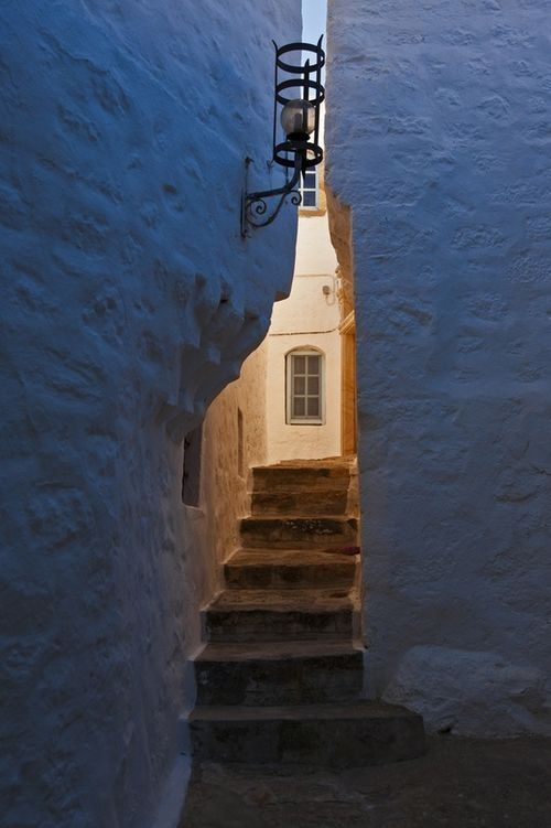 Explore the alleys on #Patmos Island #Greece Discover the top choices from Patmos Aktis Suites & Spa for ideal holidays!