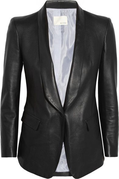{ band of outsiders leather blazer }