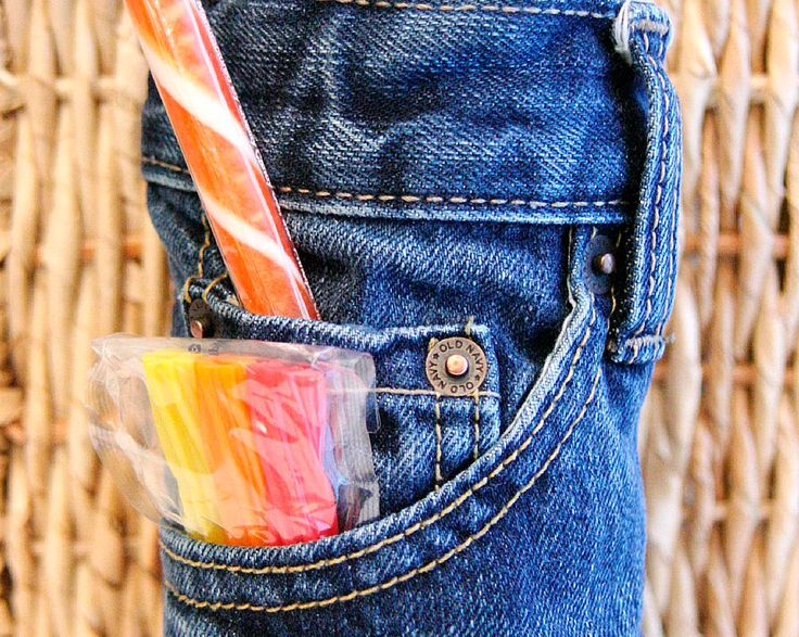 Dad's Drink Cozy - reuse old jeans to make this can cozy for Father's Day! www.fiskars.com