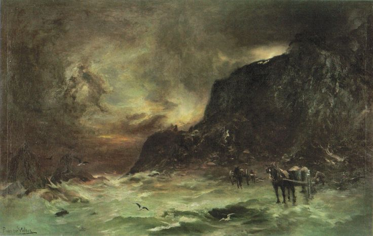 'Storm_at_Wellington_Heads',_oil_on_canvas_painting_by_Petrus_van_der_Velden,_c._1908,_Te_Papa.jpg (1840×1168)