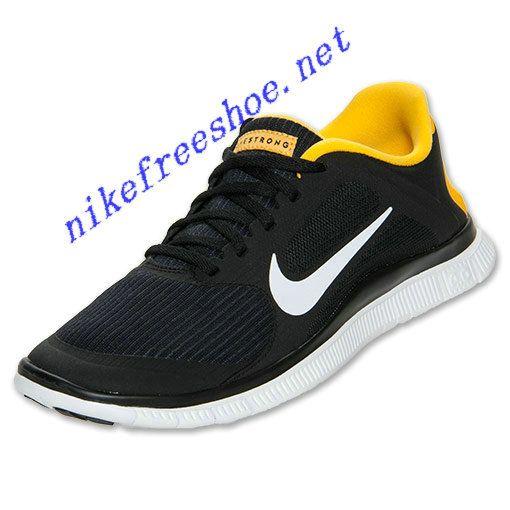 Laf Nike Free 4.0 V3 Mens Black Yellow SMU 586297 007