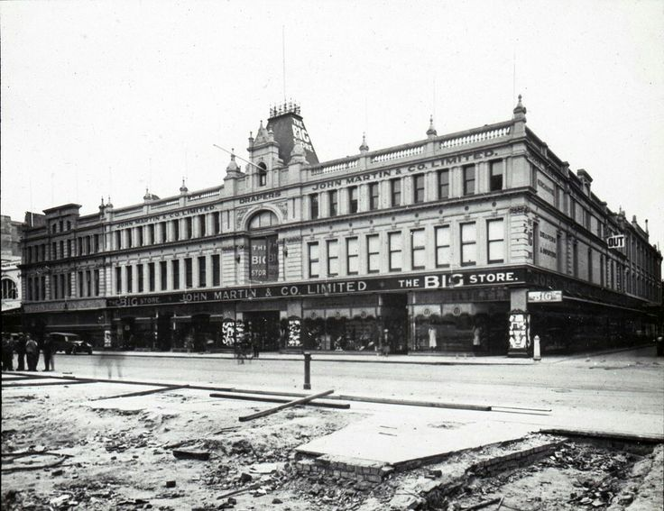 John Martin & Co Ltd on Rundle St,Adelaide in South Australia (year unknown).