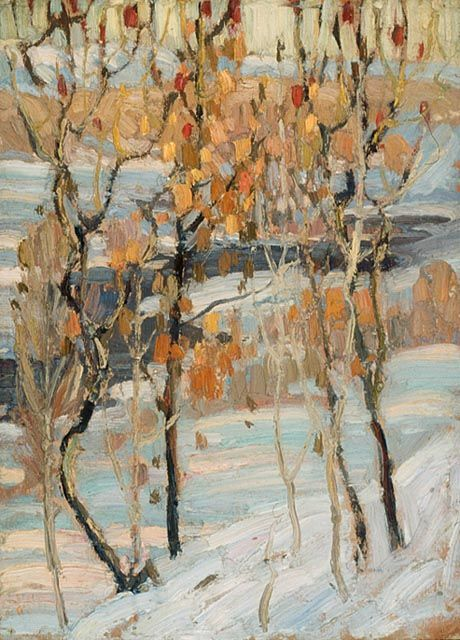 "Frank Carmichael, Study for ""Sumacs"", 1915 (source)."