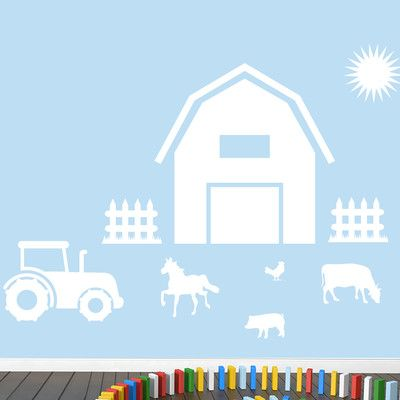 SweetumsWallDecals Farm Wall Decal Color: White