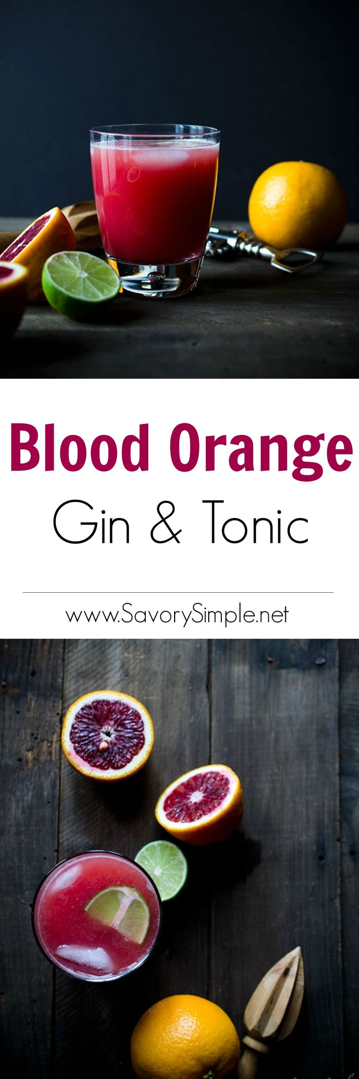 This Blood Orange Gin and Tonic is a vibrant, sweet and citrusy ...