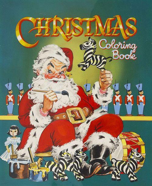 Vintage Christmas Coloring Book. #christmas #retro #vintage