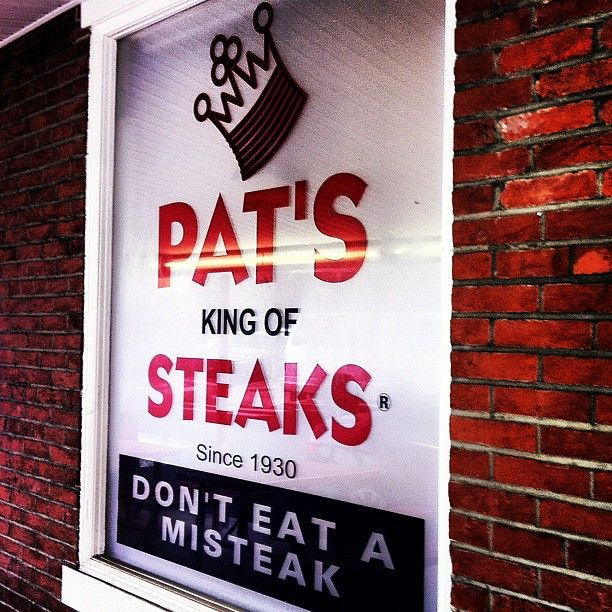 Pat's - the original king of cheesesteaks in Philly