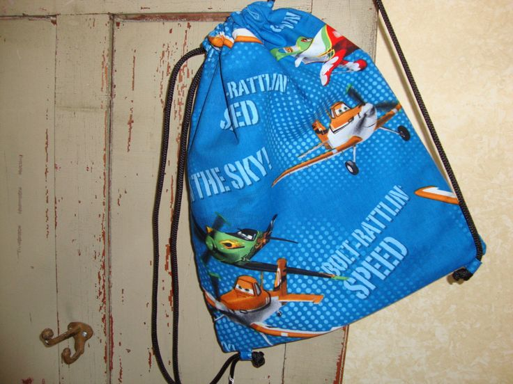 Planes Childs Drawstring Bag by EYPDesigns on Etsy
