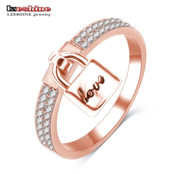 New Arrival 2016 Women's Fashion Ring Real Rose Gold Love Romantic Circle Christmas Ring Charm Anelli Donna Ring CRI0145-A